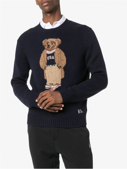 Pull col rond Ourson Polo Ralph Lauren