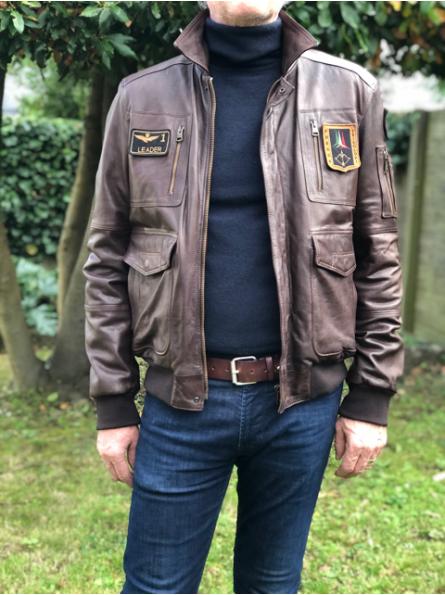 Blouson Pilote en cuir Aeronautica Militare