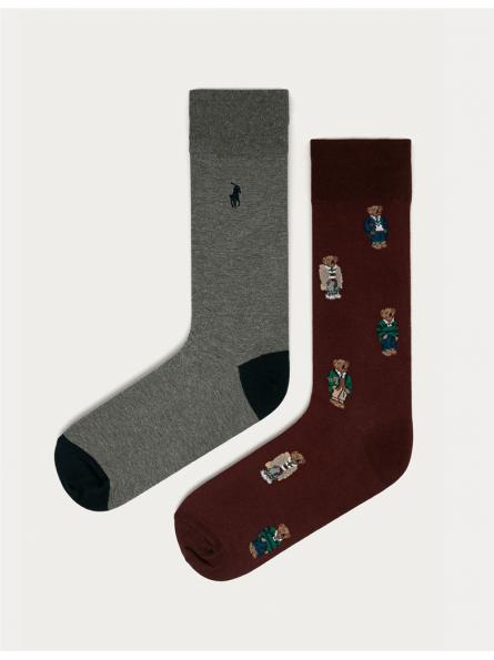 Lot deux paires de chaussettes hautes Polo Ralph Lauren