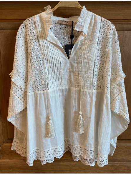 Blouse manches longues avec broderie anglaise Twinset