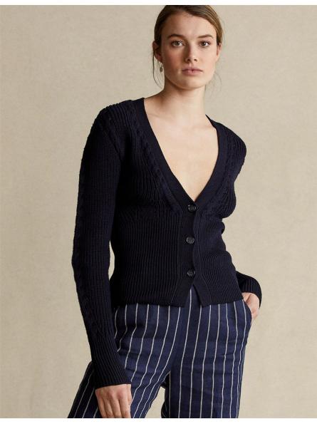 Cardigan côtelé Polo Ralph Lauren