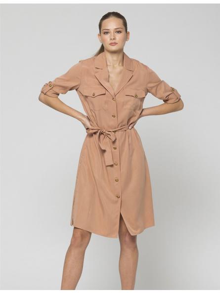Robe-chemise Lisimba en lyocell Kocca