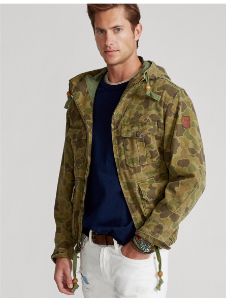 Veste à capuche camouflage Polo Ralph Lauren