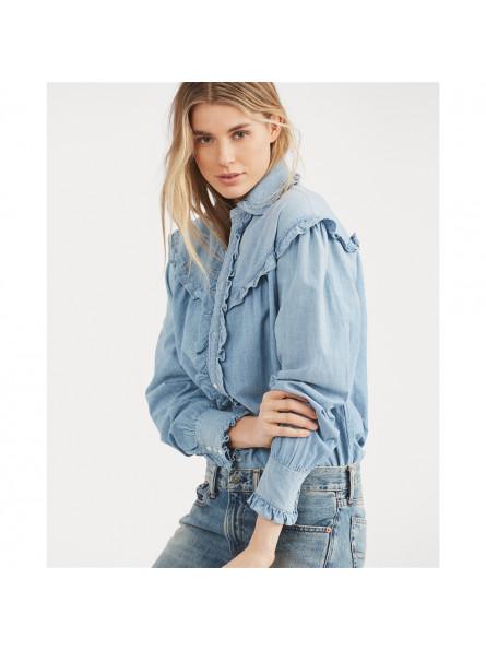 Chemise en jean avec volant Polo Ralph Lauren