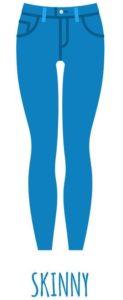 Modèle jean skinny