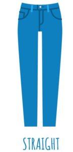 Modèle jean straight