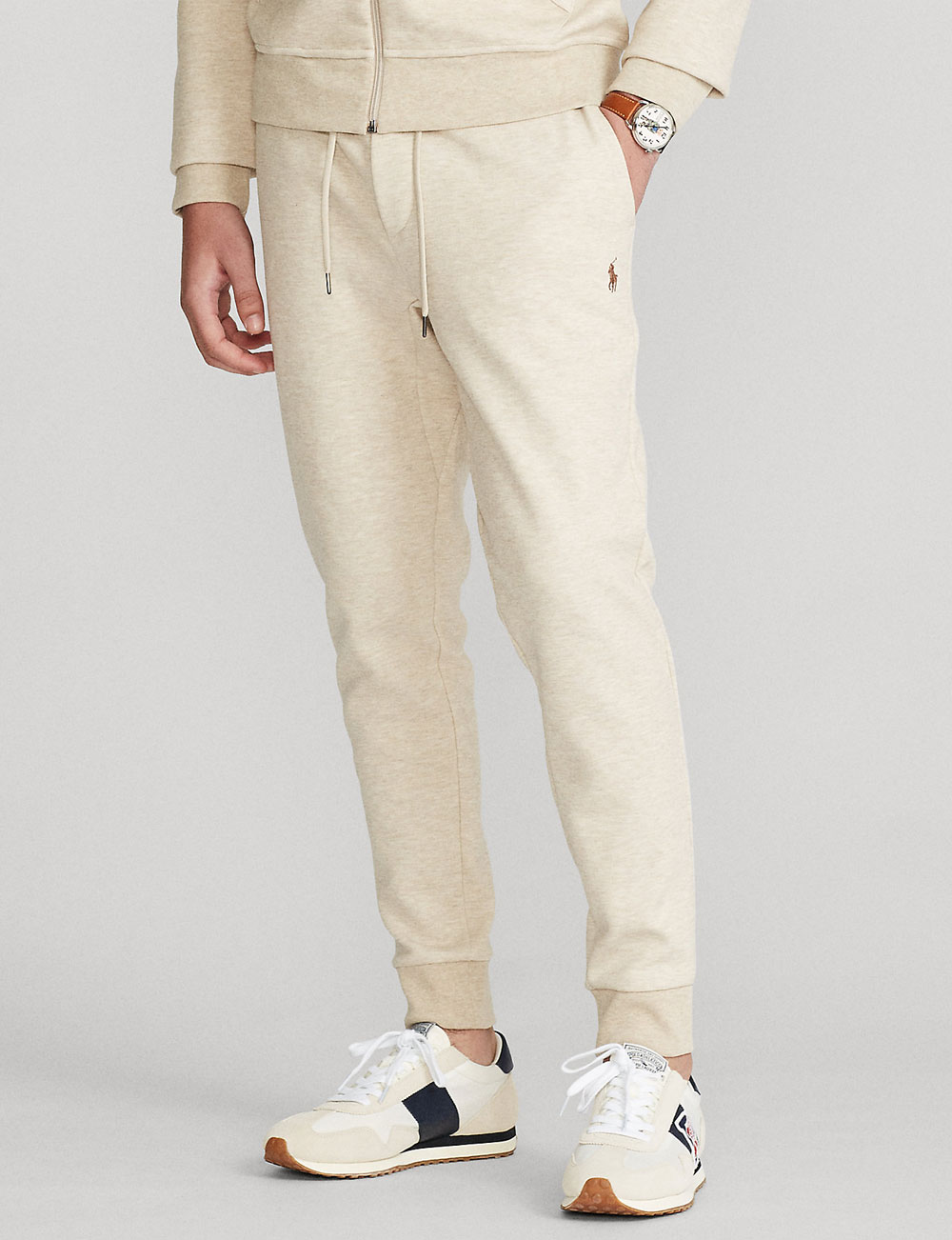 Fête des pères : pantalon de jogging beige chiné pour homme Polo Ralph Lauren