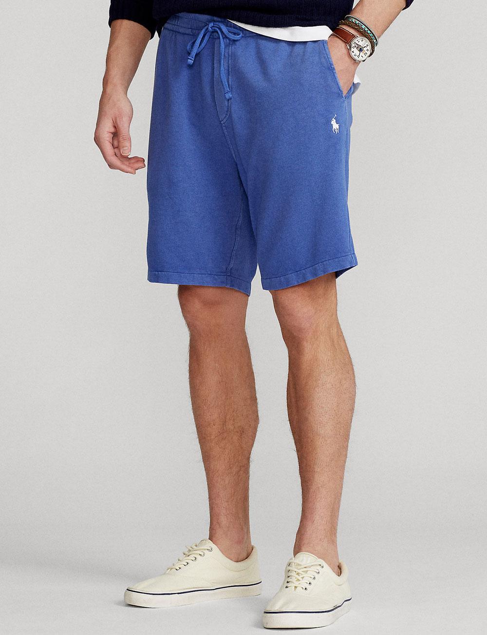 Fête des pères : short de jogging bleu homme Polo Ralph Lauren