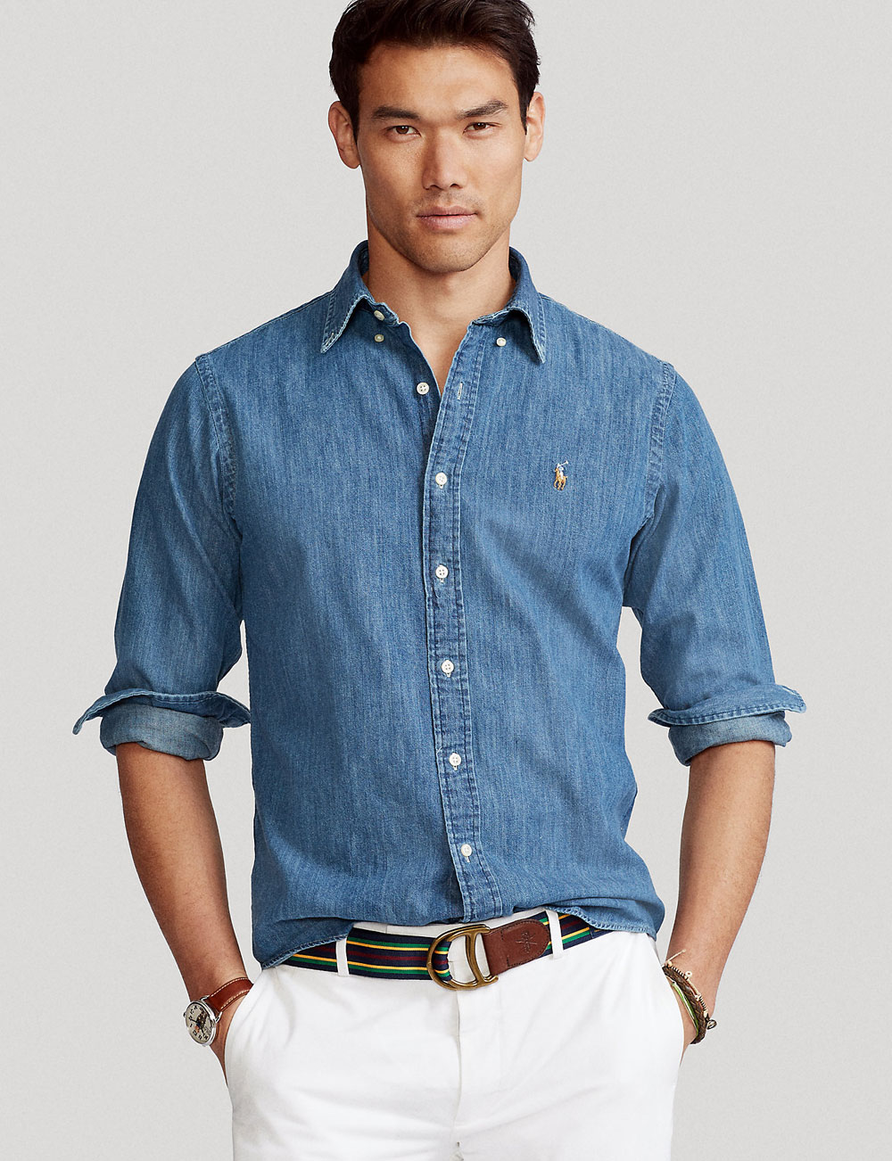 Chemise en chambray pour homme Polo Ralph Lauren