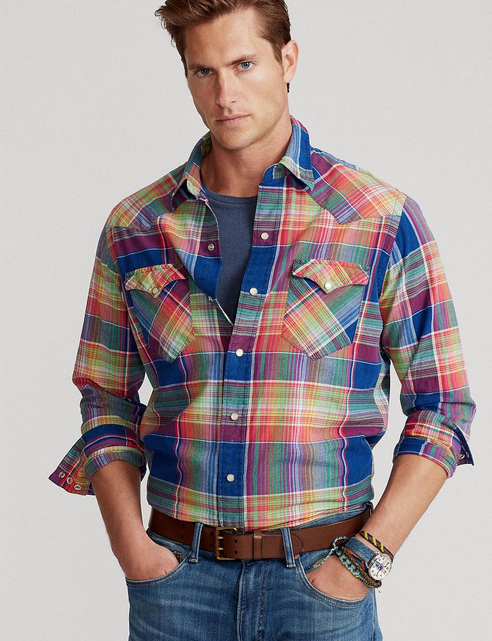 Chemise western à carreaux pour homme Polo Ralph Lauren