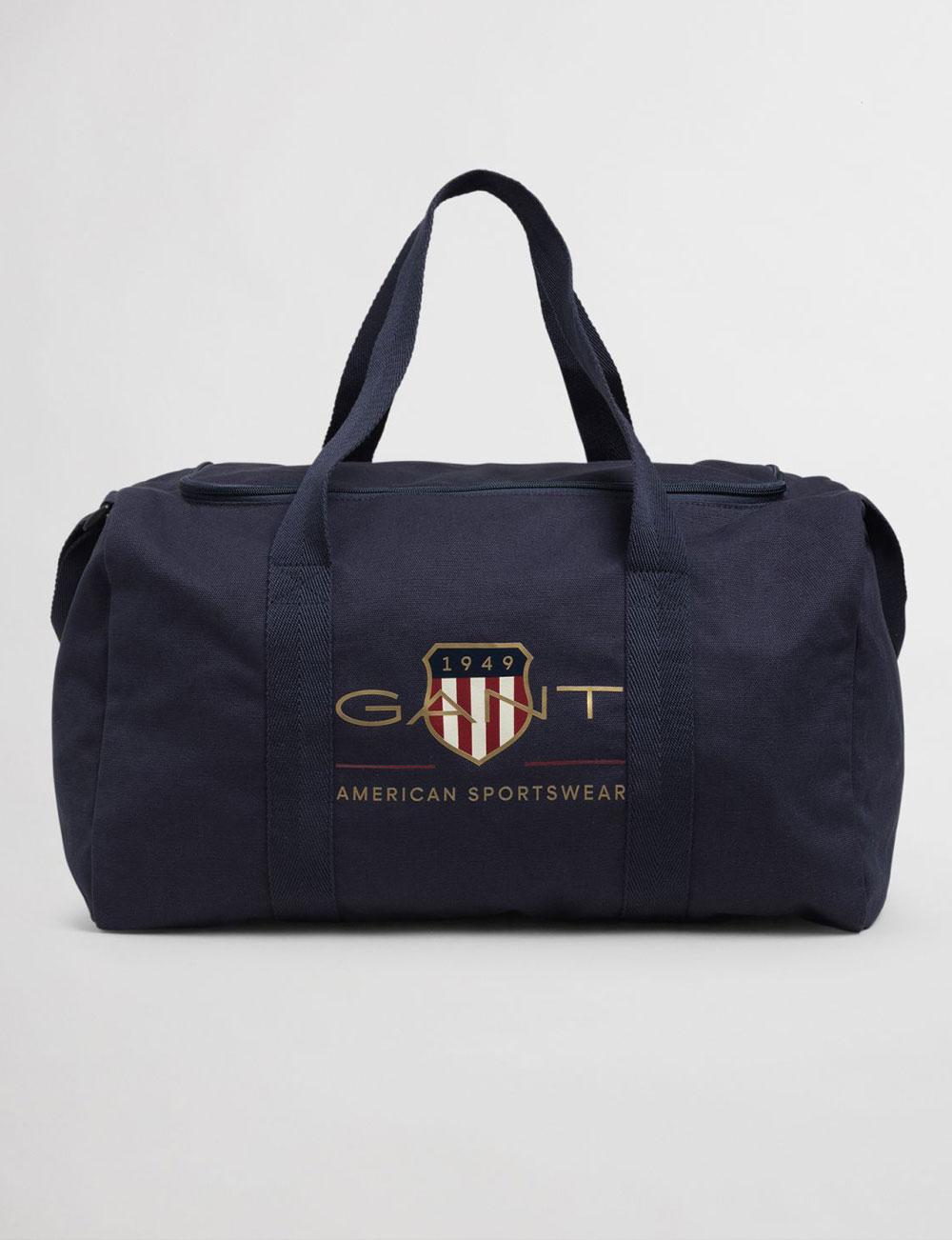 Fête des pères : sac de sport bleu marine pour homme Gant
