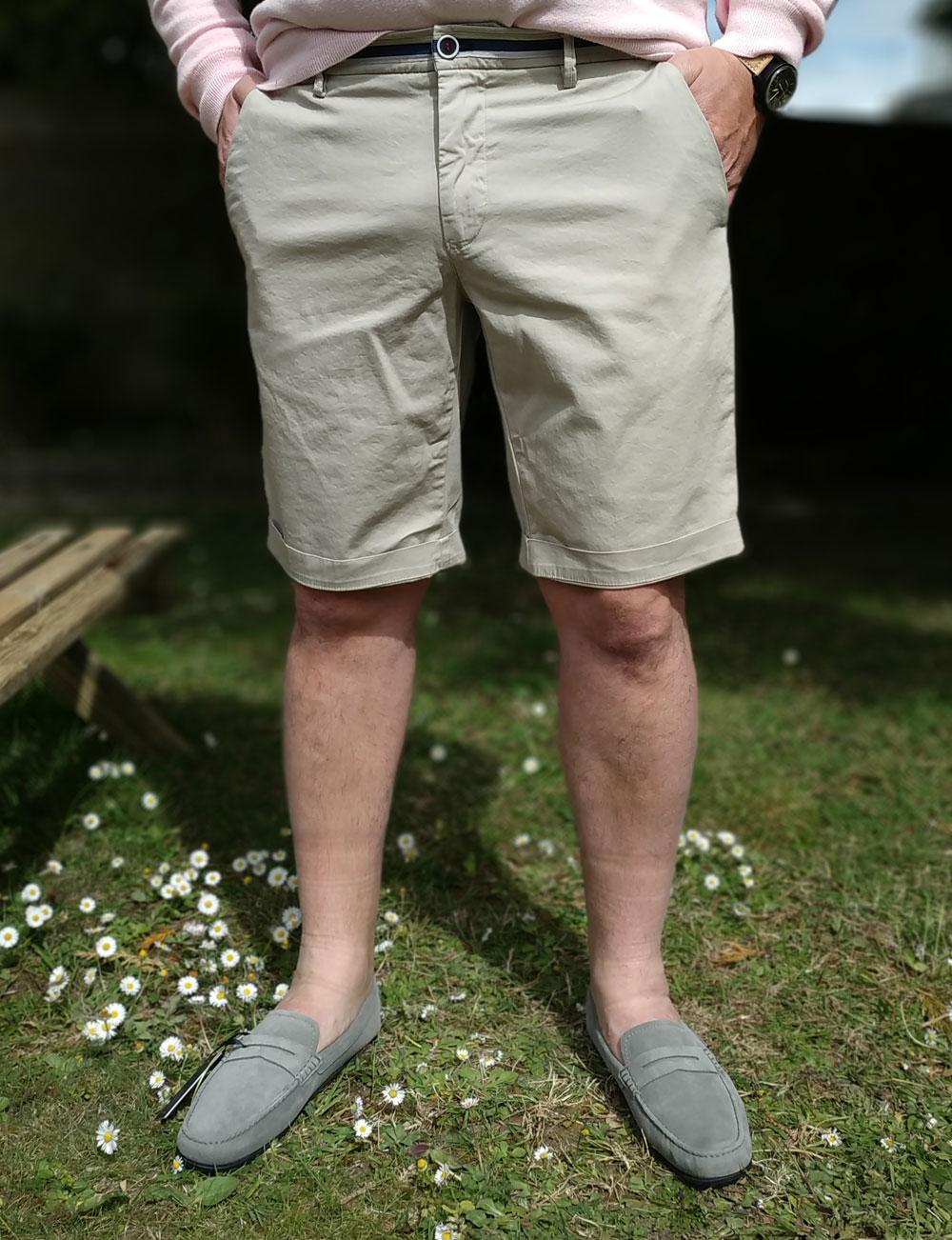 Fête des pères : short chino beige pour homme Mason's