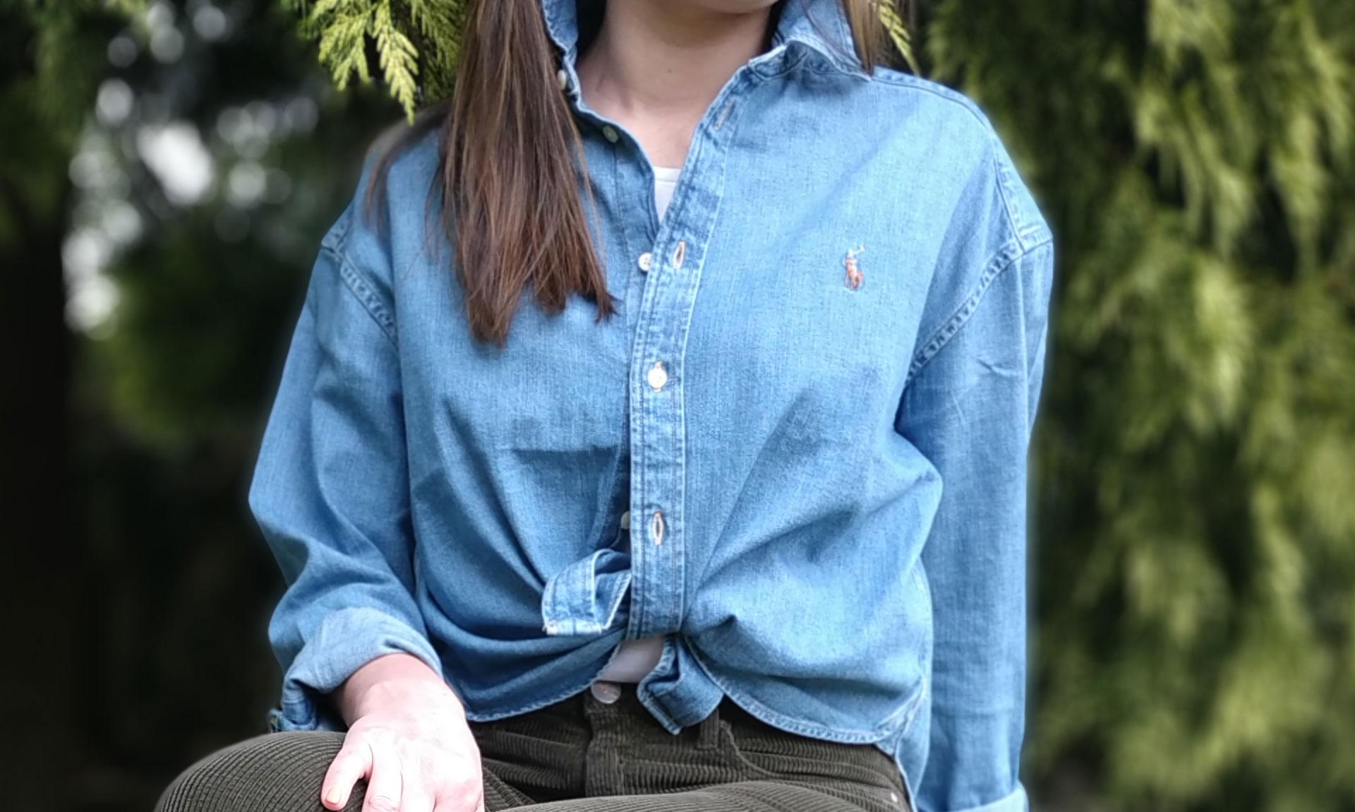 Chemise-polyvalente-et-tendance,-la-chemise-oversize-en-jean-Ralph-Lauren